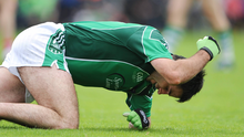 John Galvin reacts after missing a chance of a score against Cork in the 2009 Munster final.