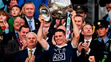 Dublin captain Stephen Cluxton lifts the Sam Maguire following their All-Ireland Final victory last year. Photo: David Maher/Sportsfile