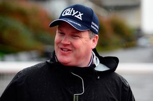 Gordon Elliott at yesterday's Down Royal fixture where his Monbeg Notorious landed the feature. Photo: PA Wire