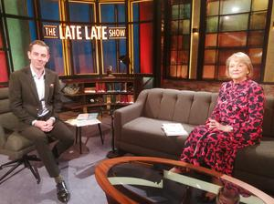 Ryan Tubridy with Kathleen Watkins on Friday night's Late Late Show