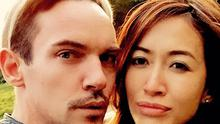 Jonathan Rhys Meyers and fiancee Mara Lane. Picture: Instagram