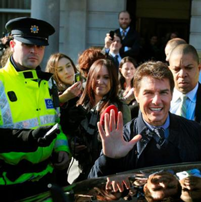 Tom Cruise outside the Department of Foreign Affairs in Dublin