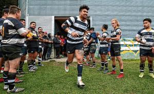 Ardie Savea takes to the field for Oriental-Rongotai on Saturday as the Hurricanes flanker used the domestic league game to continue his recovery from injury. Photo: Hagen Hopkins/Getty Images