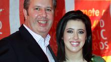 Fond memories: The late Gerry Ryan and his daughter Lottie share a laugh at the 2006 Meteor Awards in Dublin. PHOTO: COLIN KEEGAN