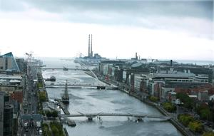 A view of Dublin city centre from the top of Liberty Hall. Photo: Damien Eagers