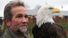 Lothar Muschketat, of Eagles Flying, with a North American Bald Eagle