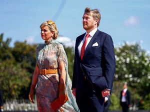 Netherland's King Willem-Alexander and Queen Maxima arrive at Kalibata Heroes Cemetery complex during their visit in Jakarta, Indonesia, March 10, 2020. REUTERS/Ajeng Dinar Ulfiana