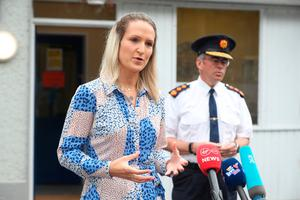 New role: Newly appointed Justice Minister Helen McEntee and Garda Commissioner Drew Harris. Photo: Niall Carson/PA Wire