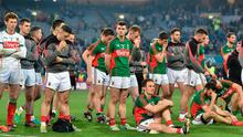 Final pain: The dejected Mayo squad can't hide their disappointment after the All-Ireland SFC final replay defeat to Dublin in2016. Photo: Sportsfile