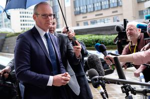 Tanaiste Simon Coveney outside the Berlaymont, the EU Commission headquarters in Brussels, last Friday. Photo: Monasse Th / Andia.fr