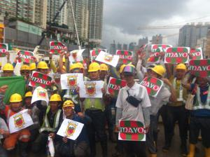 Stephen Togher from Mayo set this picture up on a construction site in Hong Kong.