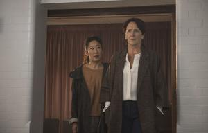 Sandra Oh plays Eve Polastri alongside Fiona Shaw's Carolyn Martens in season two of Killing Eve (Parisa Taghizadeh/BBC America/PA)