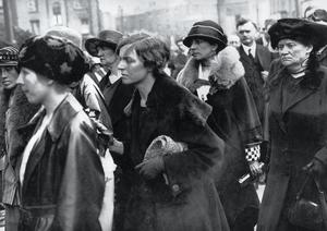 Formidable: Terence MacSwiney's wife Muriel and sister Mary at Cathal Brugha's funeral in Dublin in 1922. Terence MacSwiney had died on hunger strike in 1920. Picture courtesy of Prof Cathal MacSwiney Brugha.