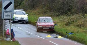 A woman and six children were hit by a car while they were walking to school in Cloughmills. Picture: Pacemaker