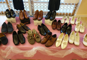 Some shoes were donated by Collar and Cuff in Dublin.