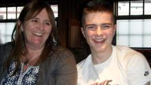 Linda pictured with her son Darragh (15) who tragically took his own life in 2012
