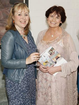 no fee if house 2016 mentioned in caption Niamh O'Carroll and Fiona Murray at the launch of house 2016  at The Chocolate Factory. The new interiors event launched by INM will run from 20th - 22nd May 2016 at the RDS Simmonscourt, and will showcase the very best of all things home and interiors related-photo Kieran Harnett