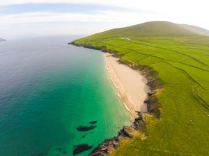 Great Blasket Island, as photographed from the air by Raymond Fogarty of Aircam Ireland.