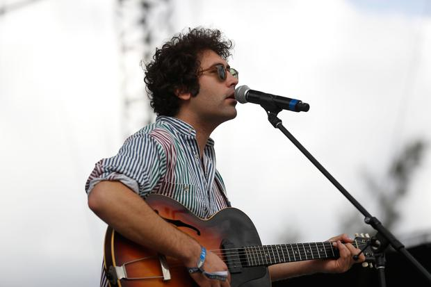 Miles Michaud, lead singer of the California band Allah-Las, performs during the second and last day of the Corona Capital Music Festival in Mexico City. (AP Photo/Dario Lopez-Mills, file)
