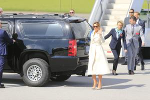 US President Donald Trump and First Lady Melania touch down in Shannon Airport. Picture: Gerry Mooney