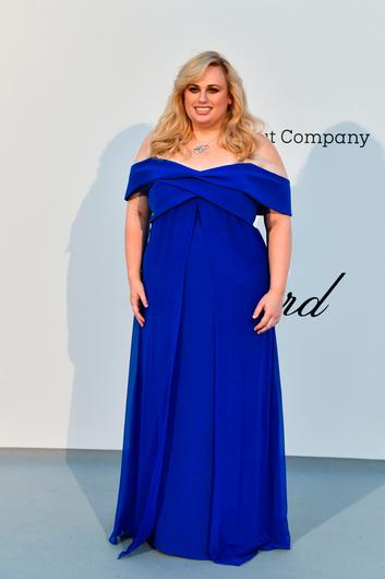 US comedian Rebel Wilson arrives on May 23, 2019 for the amfAR 26th Annual Cinema Against AIDS gala at the Hotel du Cap-Eden-Roc in Cap d'Antibes, southern France, on the sidelines of the 72nd Cannes Film Festival. (Photo by Alberto PIZZOLI / AFP)