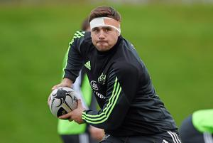 Munster's CJ Stander in action during squad training