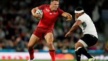 England's Sam Burgess in action