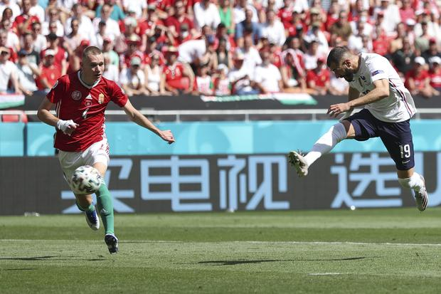 Karim Benzema wasted a glorious chance for France in the first half (Alex Pantling/AP).