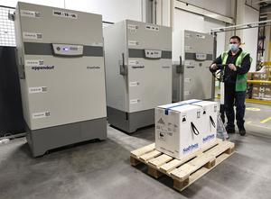 IT'S HERE: the HSE takes delivery of the first doses of the Pfizer BioNTech vaccine yesterday. Photo: Marc O'Sullivan
