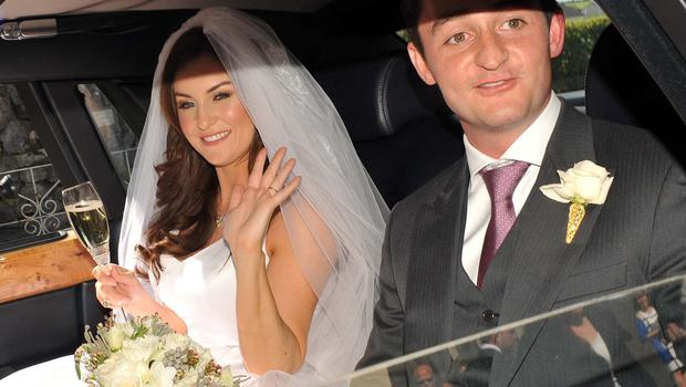 Broadcaster Mairead Farrell married Louis Ronan Jnr at St Michael's Church, Ballyclerihan, County Tipperary yesterday. Photo: John Dardis