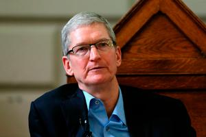 Apple's Tim Cook. Photo: Niall Carson/PA Wire