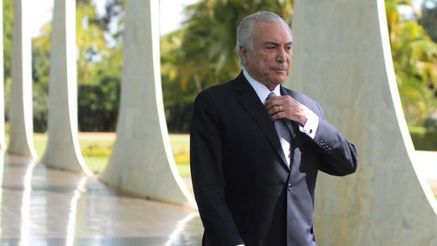 Brazilian President Michel Temer at the Alvorada Palace in Brasilia Photo: Getty Images
