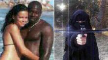 Hayat Boumeddiene and  Amedy Coulibaly, and shooting a crossbow