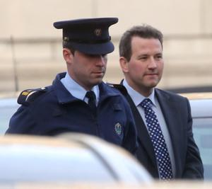 19/12/2013 Graham Dwyer (On Right) pictured arriving at the Four Courts yesterday(Thurs) for a Supreme Court hearing.Pic: Collins Courts