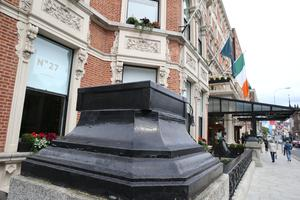 Controversy: The removal of the Shelbourne's sculptures has drawn both praise and condemnation. PHOTO: STEPHEN COLLINS