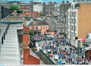 30 August 2015; Supporters overlook Jones's Road ahead of the game. GAA Football All-Ireland Senior Championship, Semi-Final, Dublin v Mayo, Croke Park, Dublin. Picture credit: Ramsey Cardy / SPORTSFILE