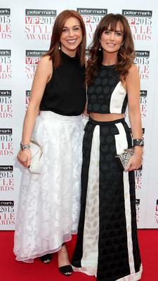 Cathy O Donoghue and Lorraine Keane on the Red Carpet at The Peter Mark VIP Style Awards 2015 at The Marker Hotel,Dublin. Pictures Brian McEvoy