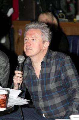 Aongus McAnally & Louis Walsh  during a boy band audition by Louis Walsh at The Button Factory, Temple Bar , Dublin