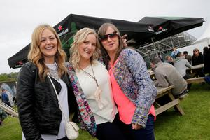 Deirdre Smyth, Sabrina McKenna and Helena Sheridan, Monaghan pictured at Slane Castle in Co Meath. Picture: Arthur Carron