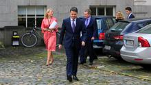 Minister for Finance Paschal Donohoe TD with Budget 2020 at Government Buildings, Dublin. Photo: Gareth Chaney/Collins
