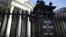 Revelation: Bank of Ireland will impose a negative interest rate of 0.65pc on funds held in pensions from September. Photo: Simon Dawson/Bloomberg