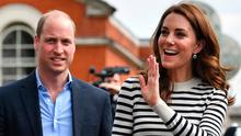 Catherine, Duchess of Cambridge and Prince William, Duke of Cambridge wave to well wishers as they leave after attending the launch of the King's Cup Regatta at Cutty Sark, Greenwich on May 7, 2019 in London, England. (Photo by Ben Stansall - WPA Pool / Getty Images)