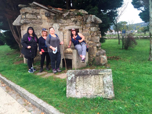 Andrea, Mary, Mags and Cathy on Day Four of their 115km Camino trek.