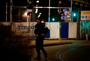 Police secure a street and the surrounding area after a shooting in Strasbourg, France, December 11, 2018. REUTERS/Vincent Kessler