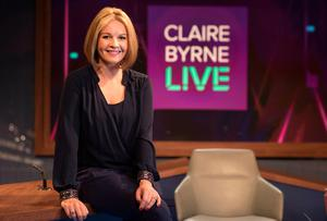 RTE star Claire Byrne, on the set of Claire Byrne Live. Picture: Fergal Phillips