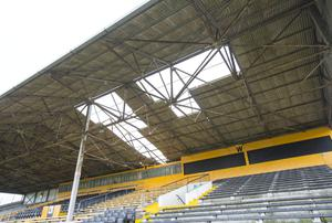 The roof at Nowlan Park blew down in high winds
