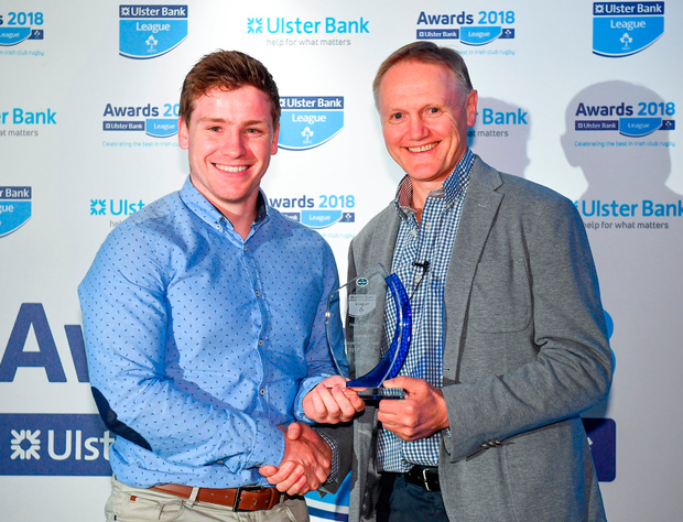 Joe Schmidt presents the Ulster Bank Munster Player of the Year award in May Photo by Sam Barnes/Sportsfile