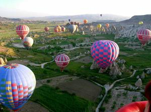 'A wonderful balloon trip in Cappadocia in Turkey'. Photo: Noeleen Cabena