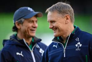Joe Schmidt is starting to put his mark on the Irish team with the help of assistant coach Les Kiss