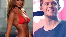 Amy Willerton at Miss Universe (left) and Niall Horan (right)